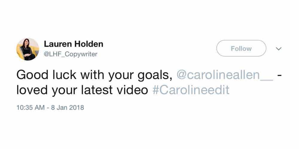 Caroline Allen Testimonial