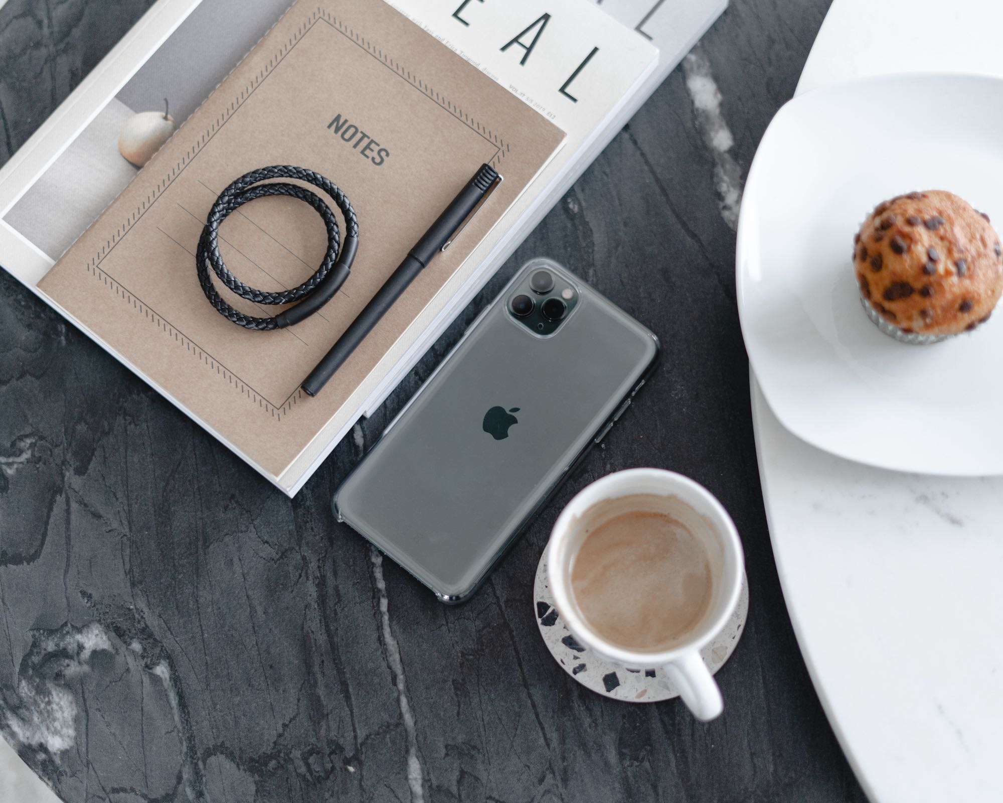 coffee cup and mobile phone - Caroline Allen