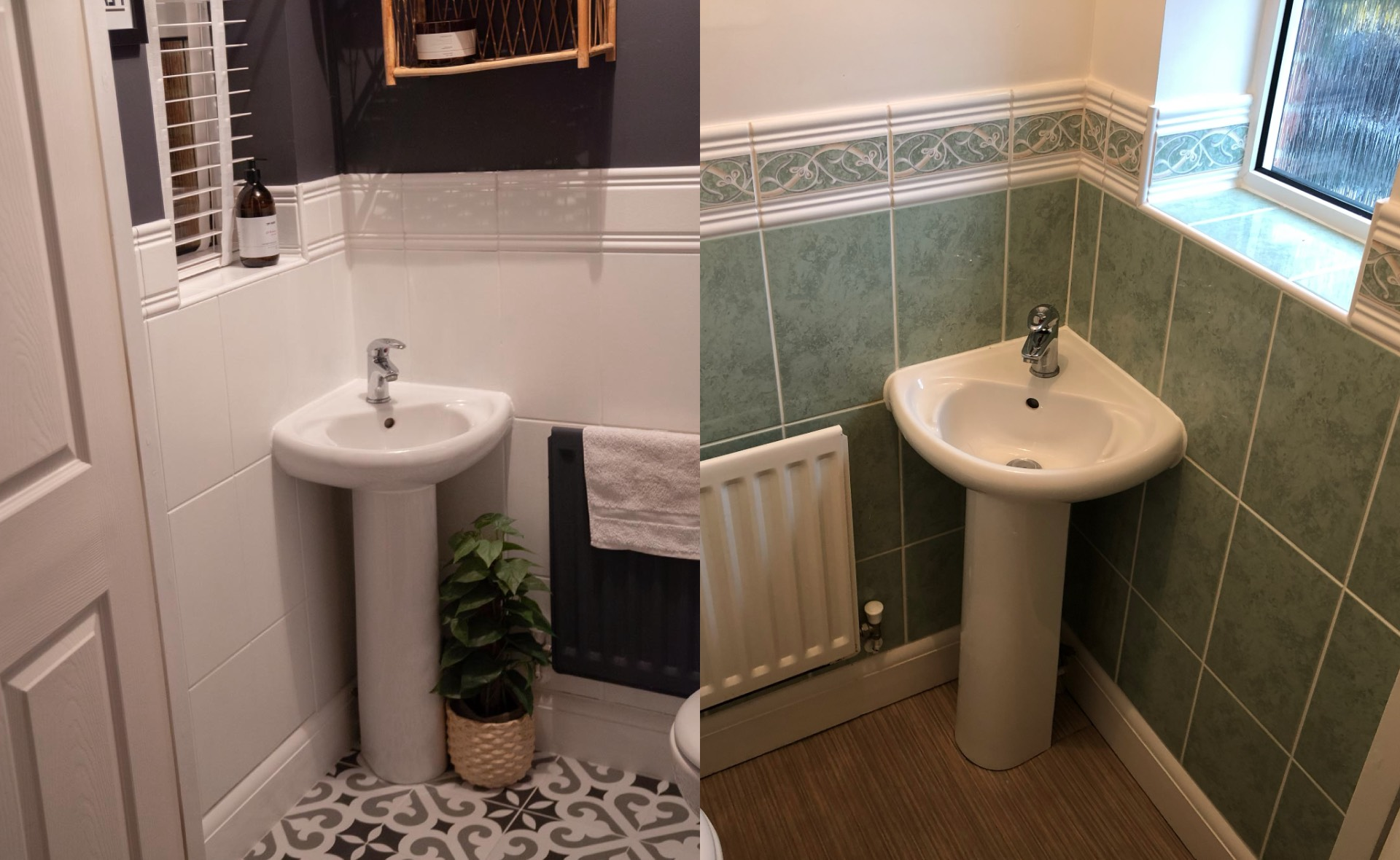 how to redo your downstairs toilet for under £100 - Caroline Allen